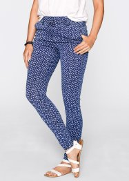 Jeansleggings - designt von Maite Kelly, bpc bonprix collection, blue stone/weiss bedruckt