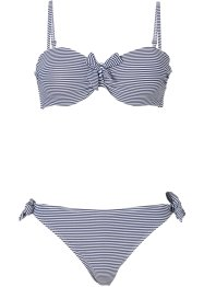 Bügel Bikini (2-tlg. Set), bpc bonprix collection, dunkelblau/weiß gestreift