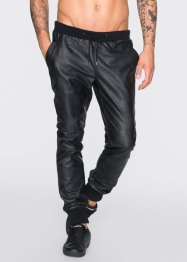 Lederimitathose Slim Fit Straight, RAINBOW, schwarz