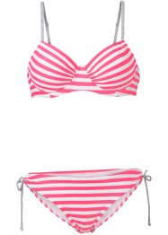 Bügel Bikini (2-tlg. Set), bpc bonprix collection, hummer/weiß