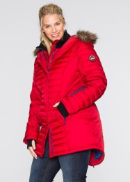 Gesteppte Outdoorlangjacke, bpc bonprix collection, dunkelrot
