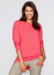 Langarm-Shirt, bpc bonprix collection, hellpink bedruckt