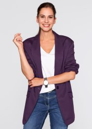 Long-Blazer, bpc bonprix collection, weinbeere