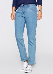 Figurformende Stretch-Jeans, knöchellang, bpc bonprix collection, medium blue bleached
