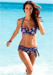 Bikinihose, bpc bonprix collection, schwarz/pink kariert