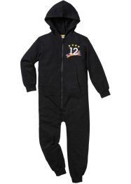 Kapuzen-Sweatoverall Deutschland, bpc bonprix collection, schwarz/rot/gold