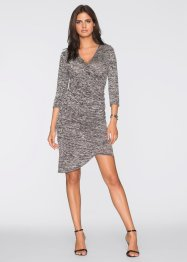 Kleid in Wickeloptik, BODYFLIRT, grau meliert