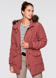 Jacke mit Teddyfell, bpc bonprix collection, marsalabraun