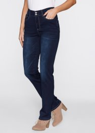 Gerade Push-up Stretchjeans, bpc bonprix collection, dark denim