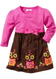 Kleid, bpc bonprix collection, fuchsia/dunkelbraun