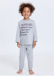 Pyjama (2-tlg.Set), bpc bonprix collection, hellgrau meliert