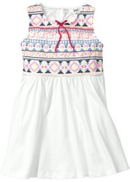 Jerseykleid, bpc bonprix collection, wollweiss/bunt
