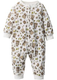 Baby Overall  Bio-Baumwolle, bpc bonprix collection, wollweiss