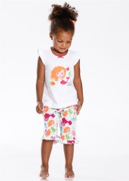 Shorty-Pyjama (2-tlg. Set), bpc bonprix collection, weiss bedruckt
