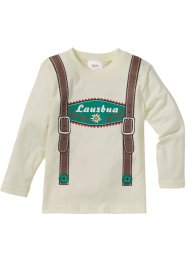 Langarmshirt Oktoberfest, bpc bonprix collection, cremeweiss bedruckt