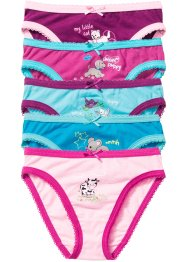 Slip (5er-Pack), bpc bonprix collection, rosa/pink/aqua