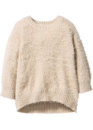Flauschiger Pullover, bpc bonprix collection, sandbeige