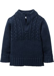 Grobstrickpullover, bpc bonprix collection, dunkelblau