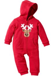 Baby Sweat Overall Bio-Baumwolle, bpc bonprix collection, rot