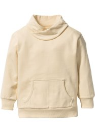 Sweatshirt mit weitem Kragen, bpc bonprix collection, beige