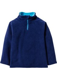 Fleecepullover, bpc bonprix collection, mitternachtsblau/mitteltürkis