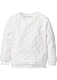 Struktur-Sweatshirt, bpc bonprix collection, wollweiss