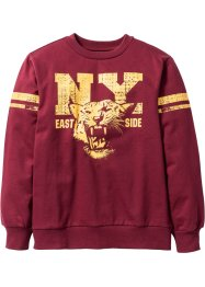 Sweatshirt mit College Druck, bpc bonprix collection, bordeaux