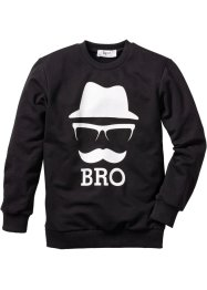 Sweatshirt mit Druck, bpc bonprix collection, schwarz