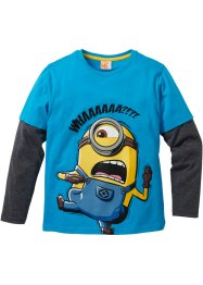 """MINIONS"" Layershirt, Despicable Me 2, mitteltürkis/anthrazit meliert"