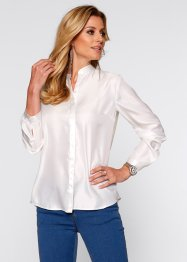 Satin-Bluse, bpc selection, wollweiss