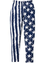 Jersey Leggings Stars and Stripes, bpc bonprix collection, dunkelblau/weiss allover