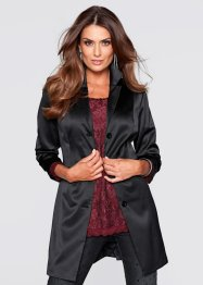 Satin-Longblazer, bpc selection premium, schwarz
