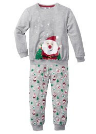Pyjama Weihnachten (2-tlg. Set), bpc bonprix collection, hellgrau meliert
