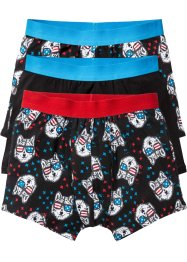 Boxershorts (3er-Pack), bpc bonprix collection, schwarz