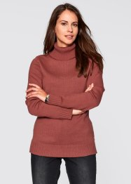 Rollkragen-Pullover, bpc bonprix collection, grau meliert