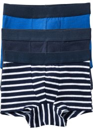 Boxershorts (3er-Pack), bpc bonprix collection, azurblau/dunkelblau