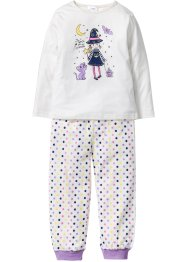 Halloween Pyjama (2-tlg. Set), bpc bonprix collection, wollweiss