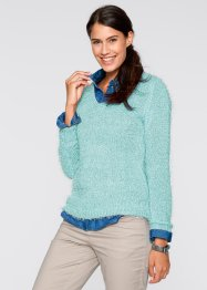Flausch-Pullover, bpc bonprix collection, pastellmint
