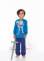 Pyjama (2-tlg. Set), bpc bonprix collection, capriblau/mitternachtsblau