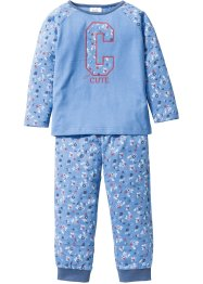 Pyjama (2-tlg. Set), bpc bonprix collection, mittelblau