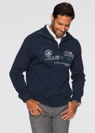 Troyer-Pullover, bpc selection, dunkelblau