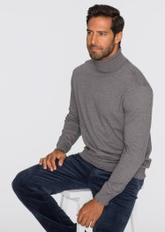 Rollkragenpullover Regular Fit, bpc selection, grau meliert