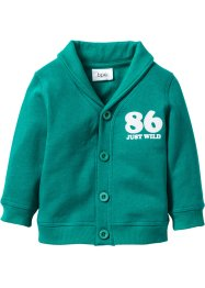 Baby Sweatjacke  Bio-Baumwolle, bpc bonprix collection, dunkelsmaragd