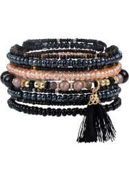 9-tlg. Armbandset mit Troddeln, bpc bonprix collection, multi
