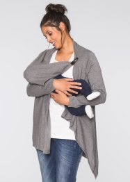 Umstands- und Stillponcho / Strickjacke, bpc bonprix collection, grau meliert