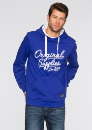 Sweatshirt mit Kapuze und Druck Regular Fit, bpc bonprix collection, smaragd