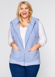 Basic Fleece-Weste, bpc bonprix collection, perlblau
