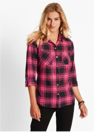 Bluse, bpc bonprix collection, dunkelpink/schwarz kariert