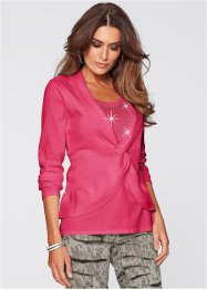 2-in-1-Pullover aus Pima Cotton, bpc selection premium, medium pink