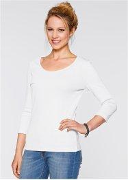 3/4-Arm Shirt, bpc bonprix collection, weiss